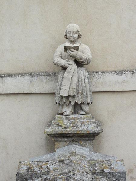 Rigny-Saint-Martin (Meuse) cimetière, tombe d'un curé