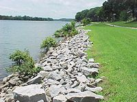 Rip rap resource learn about share and discuss rip rap at riprap lining a lake shore solutioingenieria Choice Image