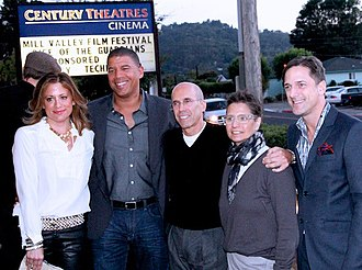 Rise of the Guardians - Rise of the Guardians premiere at the Mill Valley Film Festival: Christina Steinberg, producer; Peter Ramsey, director; Jeffrey Katzenberg, DreamWorks Animation's CEO; Nancy Bernstein, producer; Bill Damaschke, DreamWorks Animation's Chief Creative Officer