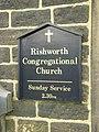 Rishworth Congregational Church, Sign - geograph.org.uk - 1277039.jpg