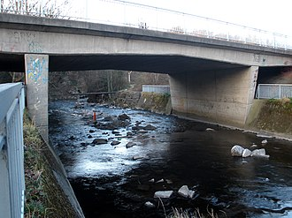 River Dodder - Image: River Dodder at Springfield Avenue