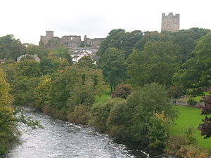 View of the River Swale from the roadbridge, R...