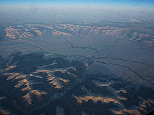 River basin east of Nome - aerial - P1040600.JPG