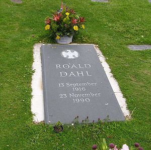 Roald Dahl bibliography - Dahl's grave in the church of St. Peter and Paul at Great Missenden, Buckinghamshire
