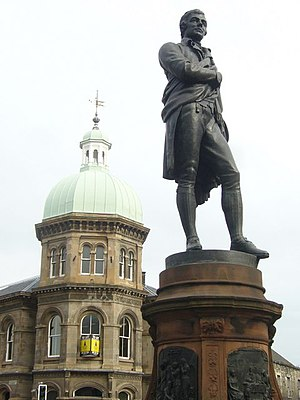 David Watson Stevenson - Robert Burns statue, Bernard Street, Leith, 1898, by David Watson Stevenson