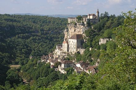 Rocamadour, which inspired Poulenc to compose religious works Rocamadour fda.jpg