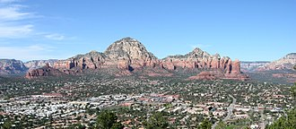 Sedona, Arizona - Aerial view of West Sedona, Arizona