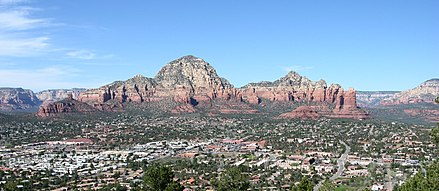 Aerial view of West Sedona, Arizona Rock Formations Near Sedona Arizona.jpg