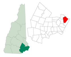 Location in Rockingham County, New Hampshire