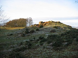 Limes Britannicus - The North: remains of a Roman watchtower on the Gask Ridge