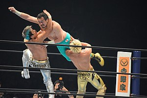 Sho Tanaka - Roppongi 3K performing the 3K on Ryusuke Taguchi