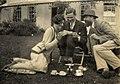 Rosamond Lehmann with her brother John and Lytton Strachey.jpg