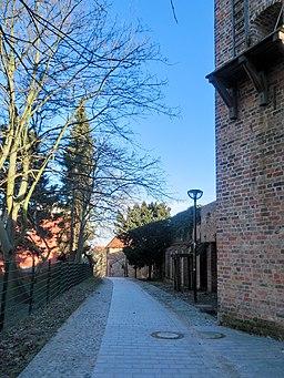 Hinter der Mauer in Rostock