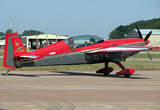 Extra EA-300 - An Extra 300 of the Royal Jordanian Falcons display team taxis for takeoff.