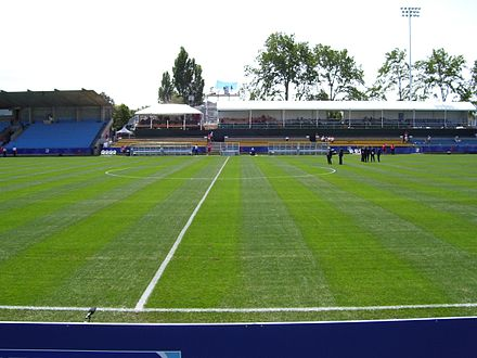 Royal Athletic Park is a multi-purpose stadium in the city. It is used as the home stadium for the WCL's Victoria HarbourCats. Royal Athletic Park Victoria.jpg