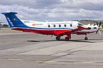 Royal Flying Doctor Service of Australia Central Operations (VH-FXJ) Pilatus PC-12-45 at Wagga Wagga Airport (2).jpg