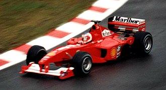 Ferrari F1-2000 - Image: Rubens Barrichello 2000 Belgian