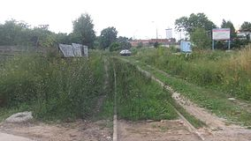 Rublyovo railway station (view to station to north from level crossing).JPG