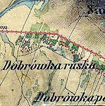 Ruska und polska Dąbrówka bei Sanok, Franzisco-Josephinische Landesaufnahme (1806-1869).jpg
