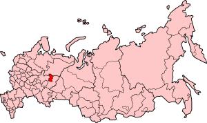 Komi-Permyak Okrug - Location map