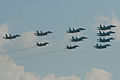 Russian Air Force fighter formation - Zhukovsky 2012 (8720827527).jpg