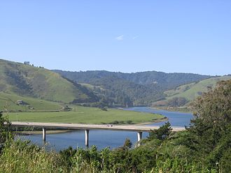 Russian River (California) - View of the Russian River and the Russian River Valley