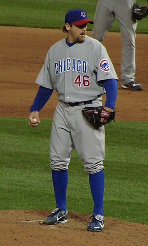Ryan Dempster pitching for the Chicago Cubs. 1...