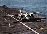 S2F Tracker of VS-21 on USS Philippine Sea (CVS-47) in 1958.jpg