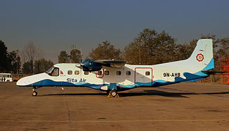 Sita Air - Sita Air Dornier 228 parked-up at Tribhuvan International Airport (February 2013).