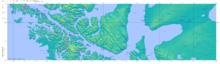 Mappa del Cile - Bahía Inútil.