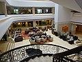 SZ 深圳香格里拉大酒店 Shangri-La Hotel Shenzhen interior void courtyard restaurant Lobby Lounge restaurant April 2016 stairs.JPG