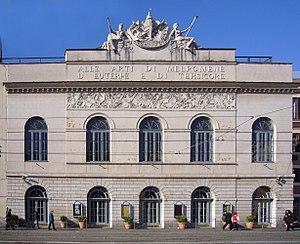 Teatro Argentina - The facade of Teatro Argentina