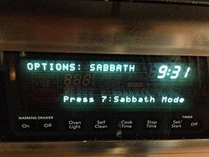 Sabbath mode - Oven with Sabbath mode