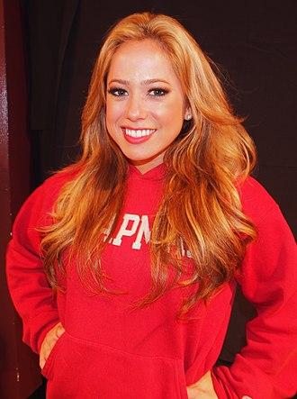 Sabrina Bryan - Bryan backstage in 2012