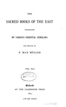 Sacred Books of the East - Volume 41.djvu