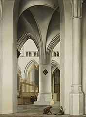 View of the north choir of the St. Bavokerk, Haarlem