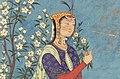Safavid Dynasty, Woman with a Spray of Flowers, circa 1575 AD-1.jpg