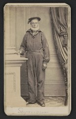 Sailor identified as Seymour in uniform) - Bradley & Rulofson, successors to R.H. Vance, corner of Montgomery & Sacramento Streets, San Francisco LCCN2017652155.tif