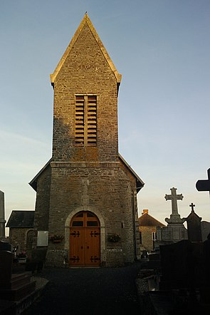 Saint-Georges-d'Elle - Église (Clocher).jpg