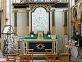 Saint-Sulpice-de-Favières (91), collégiale, collatéral sud, autel.JPG