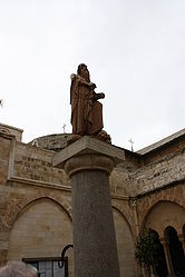 Saint Jerome statue in Church of Saint Catherine courtyard 4.jpg