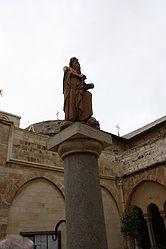 Saint Jerome statue in Church of Saint Catherine courtyard 4.jpg