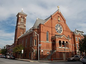 History of the Italians in Baltimore - St. Leo's Catholic Church, Little Italy, September 2014.