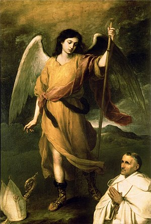 Raphael (archangel) - Saint Raphael the Archangel by Bartolomé Esteban Murillo