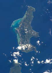 Saipan from ISS 2