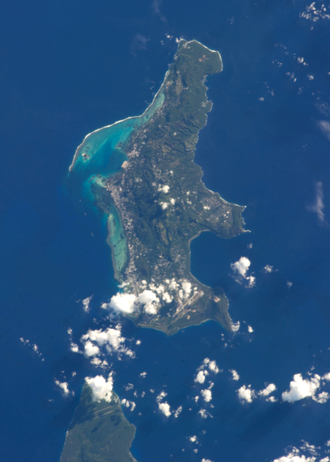 Saipan seen from the International Space Station Saipan from ISS 2.png
