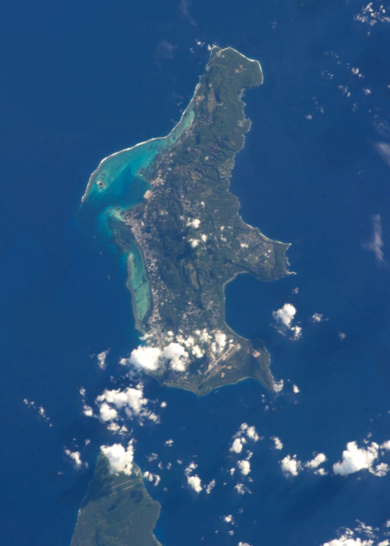 Saipan from ISS 2