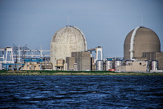 Salem Nuclear Power Plant - Salem Nuclear Power Plant as photographed from Delaware Bay.