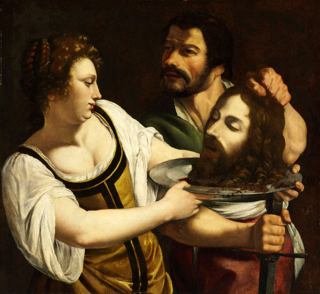 Salome with the Head of Saint John the Baptist by Artemisia Gentileschi ca. 1610-1615