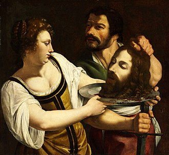 Artemisia Gentileschi - Salome with the Head of Saint John the Baptist, c. 1610–1615, Budapest